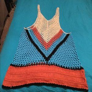 Handmade Crochet Tank Top Size Large!